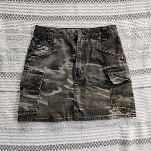 Military print Camouflage denim skirt by TOPSHOP